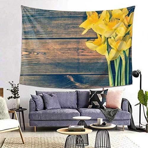 GFHUTGD CGNGFNG - Tapiz de pared, diseño de narcisos, para colgar en la pared, para dormitorio, sala de estar, dormitorio, decoración de dormitorio universitario, (203 x 152 cm)