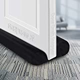 """SHMILY Door Draft Stopper, Weather Stripping Door Seal Strip Household Products Dust-Proof, Winter-Proof, Block Light, Block Noise. Multifunctional, Durable, Adjustable Size from 32"""" to 38"""" (Black)"""