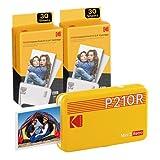 Kodak Mini 2, Impresora Fotos movil + 68 Fotos, Mini Impresora Pequeña De Fotos Instantáneas Tamaño 54X86Mm, Compatible con Smartphones iOS y Android - Amarillo