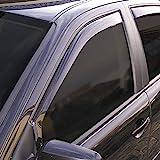 ClimAir 3395 Dark Deflectores de Aire Negro Compatible con Nissan Pathfinder 5 2005-2013/Navara 4 Puertas 2005-2016