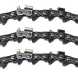 fennirace Hoja Replament for Stihl MS251 MS251C 063 Calibre 18 Pulgadas Sierra de la Cadena de la Motosierra 68DL Drive Cadenas de Acoplamiento de Sierra