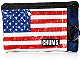 Chums Unisex Surfshort Wallet with Key Ring, American Flag, One-Size