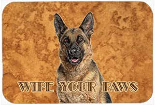 Caroline's Treasures KJ1222CMTGerman Shepherd Wipe Your Paws Kitchen or Bath Mat, 20 by 30, Multicolor