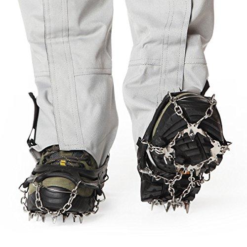Trekking Alpinisme U//K Crampons /à Glace,Griffes /à Crampon avec 8 Dents,Crampons pour Chaussures de randonn/ée,Multi-Dents en Silicone pour Hiver Haute Altitude