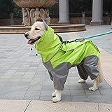 A+TTXH+Pet raincoat Pet Dog Raincoats Waterproof Dogs Rain Giacche Safety Rainwear Dog Jumpsuit Poncho Clothes Impermeabile per Cani di Taglia Piccola Media @ Green_XXXL