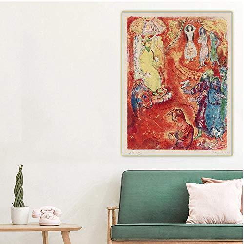 """Pintura por números para adultos Marc Chagall, ahora el rey amó la ciencia y la geometría, de Arabian Nights""""; para niños y adultos principiantes, dibujo con pinceles, decoración de Navidad regalos"""