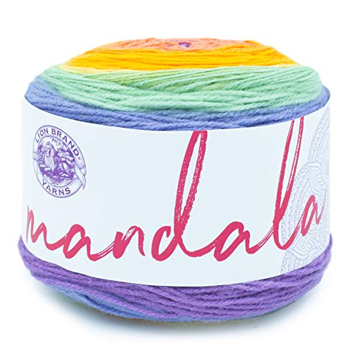 Lion Brand Yarn Company Mandala Baby Yarn, acrílico, Sprite, 13,97 x 13,97 x 10,16 cm