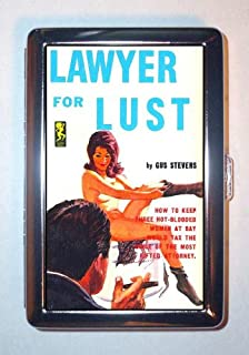 Lawyer for Lust Nude Pin Up Trashy Pulp Cover ID Wallet or Cigarette Case USA Made