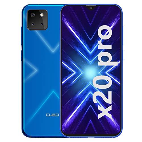 CUBOT X20 Pro Smartphone ohne Vertrag, 4G LTE 6,3 Zoll Smartphone, 6GB RAM+128GB ROM, 4000mAh Akku, 20MP/12MP/8MP + 13MP Kamera, Dual SIM Handy Android 9.0, Face ID(Blau)