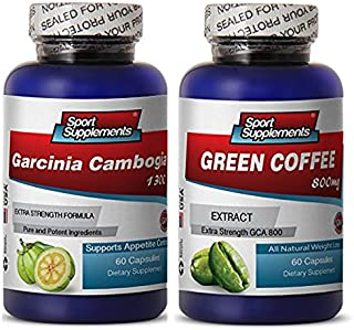 Green Coffee Cleanse Ultra and Garcinia Cambogia Plus - Green Coffee Cleanse 800mg - Natural Green Coffee Cleanse to Boost Energy and Improve Mood (2 Bottles 120 Capsules)