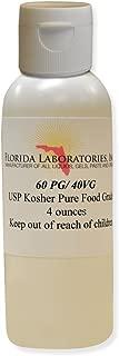 1- Bottle 4 oz 60/40 PG-VG Propylene Glycol & Vegetable Glycerin Kosher 99.9% Pure Food Grade