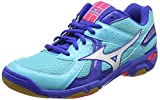 Mizuno Unisex's V507B52 Wave Twister 4 (W) White/Blue Indoor Multisport Court Shoes-4 UK/India