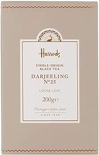 Harrods London. No 25. Darjeeling, 200g Loose Tea Box (1 Pack) NEW RANGE - USA Stock