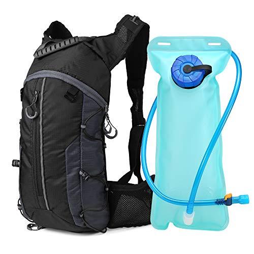Lixada Mochila de Ciclismo Ligero Plegable Mochila de Hidratación con Bolsa de Agua 2L para Ciclismo Deportes al Aire Libre
