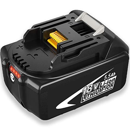 Moticett BL1860B 5,5Ah 18V Batería de Reemplazo para BL1860 BL1850B BL1850 BL1840B BL1840 BL1830B BL1830 LXT-400 con Indicador
