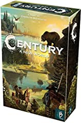 Gorgeous art supplied by Chris quilliams. Century - a new world is a fitting end to century series and one every fan will want to own! Century - a new world mixes with spice road and/or Eastern wonders. An amazing way to say farewell to this great se...