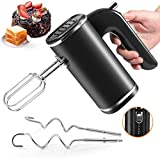 Hand Mixer Electric, 5 Speed 250W Powerful Kitchen Mixer Handheld Mixer for Easy Whipping, Mixing Cookies, Brownies, Cakes, Dough, Batters Meringues & More(Black)