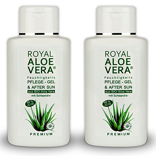 Royal Aloe Vera Premium Pflege Gel After Sun/Aftershave mit 92% Bio Aloe Vera und Schisandra (2)