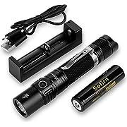 Sofirn SP31 v2.0 Tactical Flashlight Ultra Bright Cree XPL HI LED Max 1200 Lumens, Features 5 Modes and Hidden Strobe SOS