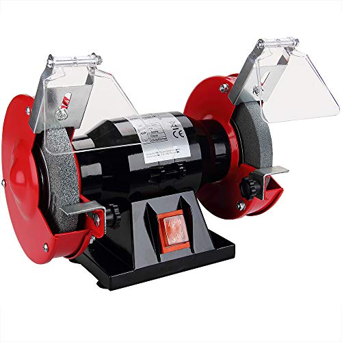 51xVtOTaf4L - Monzana Doppelschleifer | 250 Watt | Funkenschutz | Grob- und Feinschleifscheibe | Schleifgerät Schleifbock Schleifen
