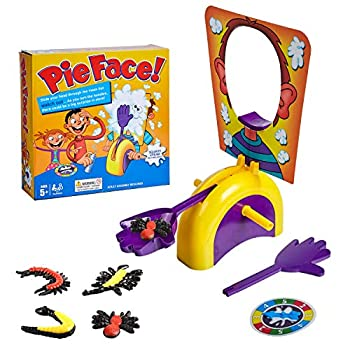 perfrom Pie Face Game Pie Face Kids  Board Game ,Fun Games for Girls Boys Whipped Cream Not Included  4 PCS Soft TPR Insects
