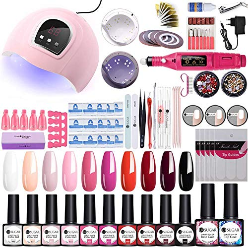 UR SUGAR 54W UV/LED Nagellampe Starterset 12x Gel Lacken für UV Nageldesign Gelnägel Nagelset UV Gel Lacken Set Nageldesign Gelnägel Starterset