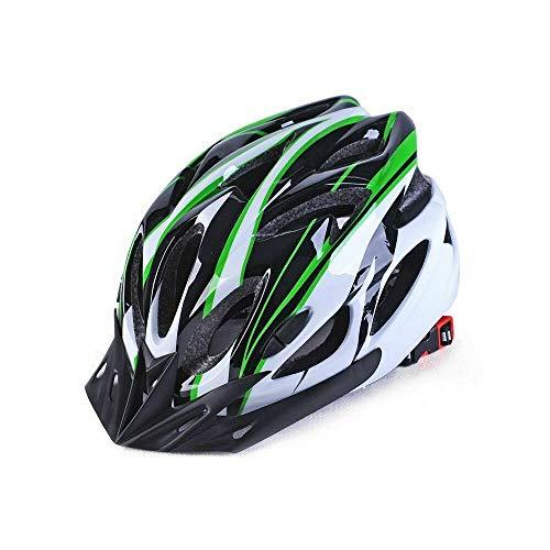 Protectora para Hombre Adulto Camino Ciclismo Casco de MTB Mountain Bike/Bicicletas/Ciclo Verde...