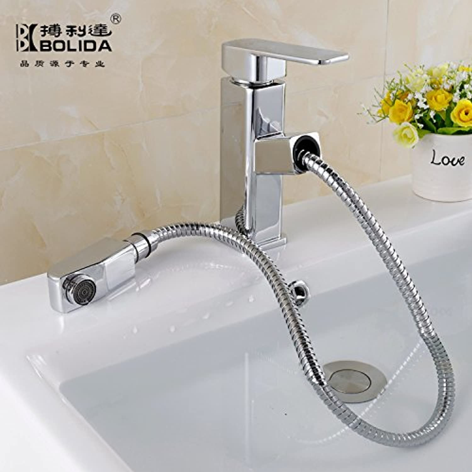 JIAHENGY Sink Mixer Faucet tap American creative modern minimalist fashion Swivel Pull Out with Combo Deck Mounted Vessel Handle Hole Toilet Kitchen bathroom