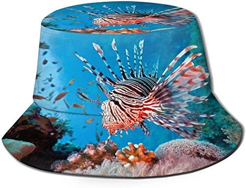 BONRI Sombreros de Cubo de Vector de Flores de tulipán Rosa para Mujeres, Adolescentes, Visera de Sol, Sombrero de Pescador para Mujer, Gorra para Hombre, impresión 3D, 2 Medianas