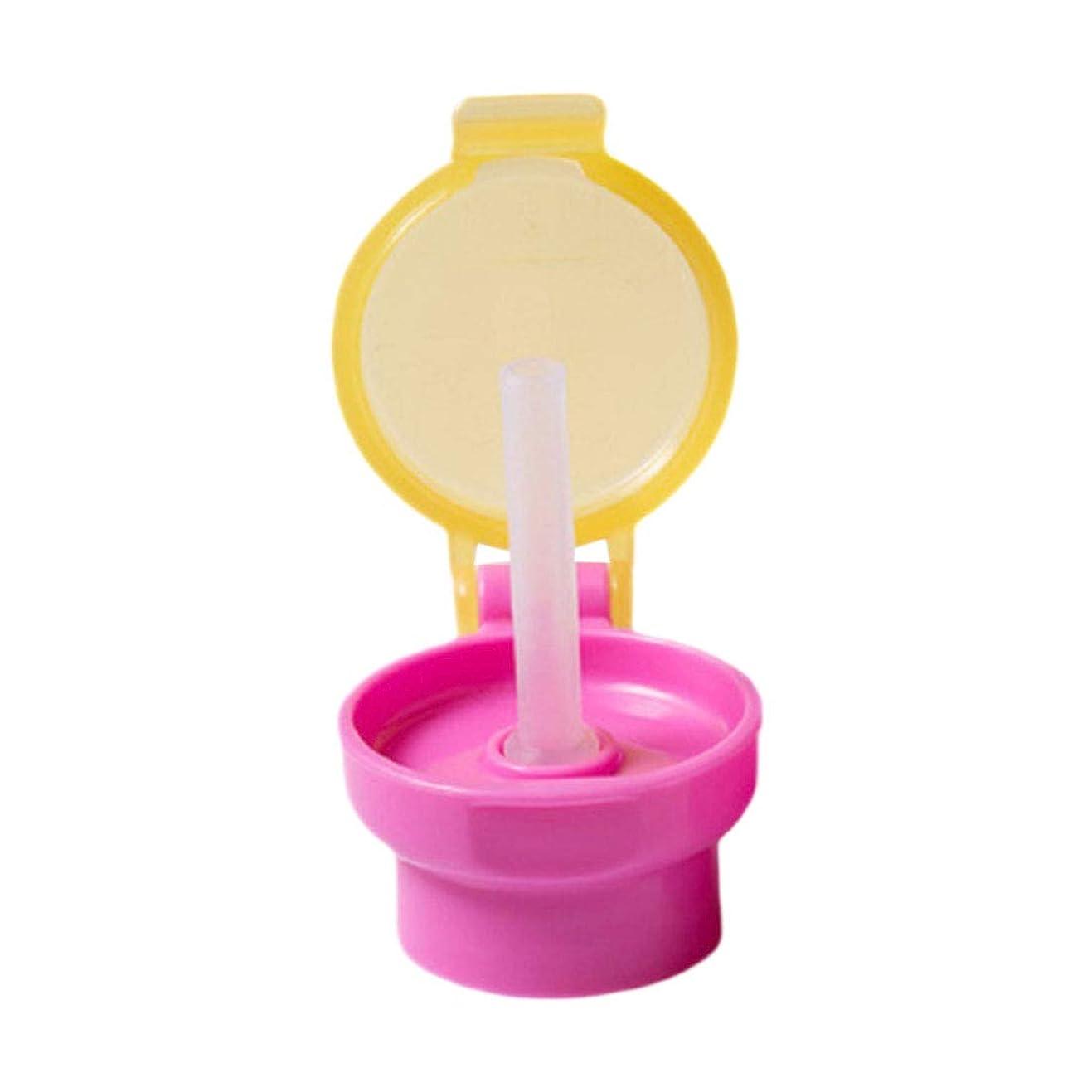 非常に海峡ひも戦士流出なし チョーク かわいい ウォーターボトルアダプター キャップ付き チューブ 幼児用 ストロー 子供キッド 簡単 ポータブル 衛生 ドリンクフィーダー 直径2.7cmの飲料ボトルに対応