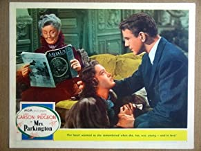 HO16 Mrs Parkington GREER GARSON/TOM DRAKE Lobby Card. This is a lobby card NOT a video or DVD. Lobby cards were displayed in movie theaters to advertise the film. Lobby cards measure 11 by 14 inches.