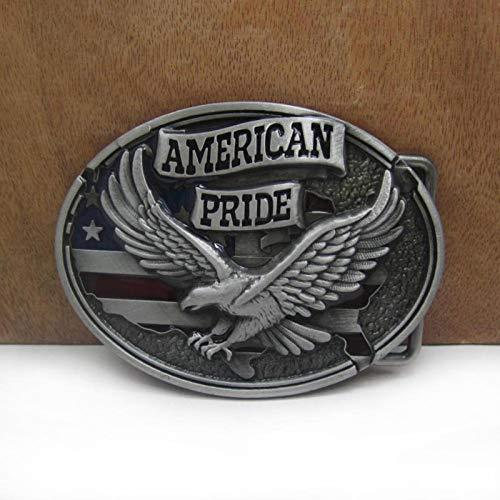 SKTNB Gürtelschnallen Retro American Pride Eagle Gürtelschnalle Western Jeans Geschenk Gürtelschnalle Zinn Finish