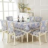 K-ONE - Juego de funda para mesa y silla de estilo europeo, diseño de flores chinas, C, 150 x 200c m