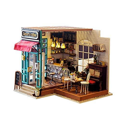 SBD Mini houten speelgoed huis met meubels DIY geassembleerd huis miniatuur ambachten kinderen en tiener speelgoed model gebouw suite houten huisje handgemaakte gift