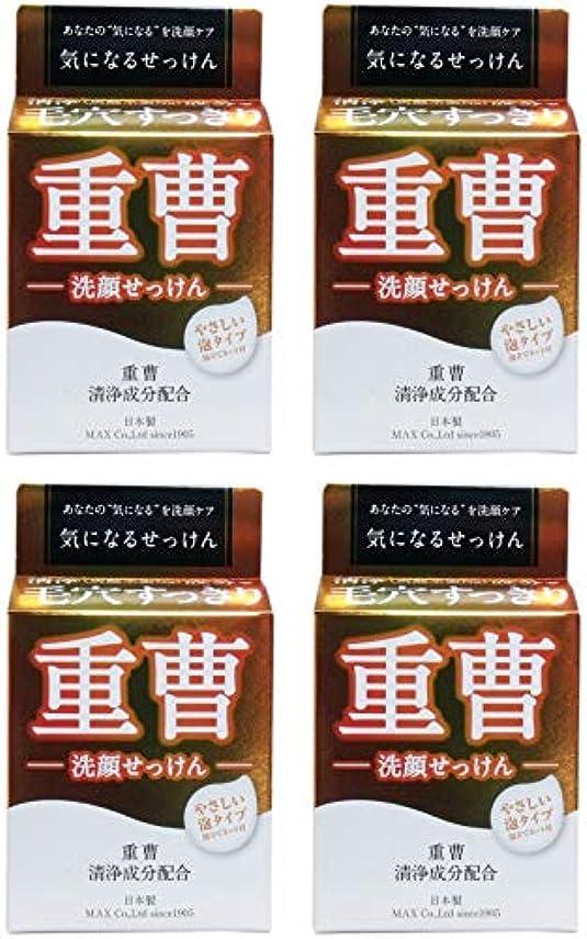 成り立つフィールド混沌【まとめ買い】気になる洗顔石鹸 重曹 80g【×4個】