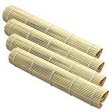 Space Home - Esterilla de Bamboo para Sushi - Juego de 4 Esteras