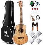 Vangoa Acoustic Electric Ukulele Tenor Mahogany 26 Inch Electro Ukulele Bundle Guitar Luthier Tools Set