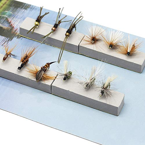 Fly Fishing Trout Flies Kit 12pcs Fly Fishing Lure for Trout Premium Dry Wet Flies Nymph Streamer Mayfly Emerger Flys Trout Fly Fishing Gear Bait Assorted…