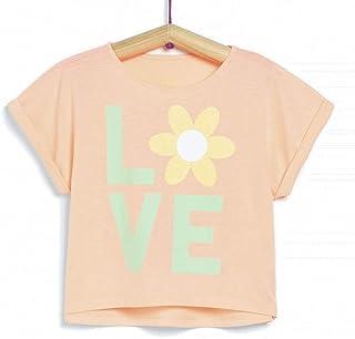 TEX - Camiseta Cropped para Niña