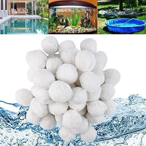 HOSPAOP Filterbälle für Sandfilteranlagen Pool, 700g Filter Balls ersetzen 25kg Filtersand, Quarzsand Poolzubehör Poolreiniger Sandfilteranlage für Pool, Schwimmbad, Filterpumpe, Aquarium Sandfilter
