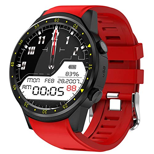 XUMINGZNSB Smart Horloge GPS Sport Watch mannen F1 stappenteller Bluetooth 4.0 Smartwatch iOS Android Phone SIM Card Watch, Rood