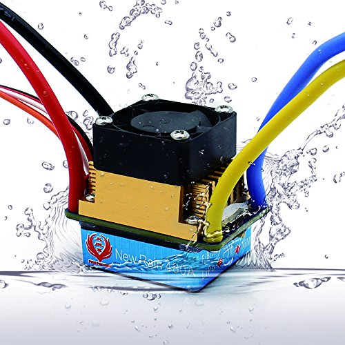 INJORA Regulador de Velocidad RC Speed Controller 480A Impermeable Cepillado ESC con 5V/3A BEC RC Accesorios para 1:10 RC Crawler SCX10 D90 Traxxas Tamiya HSP
