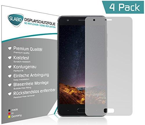Slabo 4 x Bildschirmschutzfolie für DOOGEE X20 Bildschirmfolie Schutzfolie Folie Zubehör No Reflexion MATT - entspiegelnd Made IN Germany