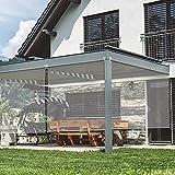 Persianas enrollables Transparentes, persianas con Sistema de elevación de PVC, a Prueba de Lluvia, a Prueba de Polvo, para Exteriores, pérgola, balcón, fácil de Instalar (80x180CM)