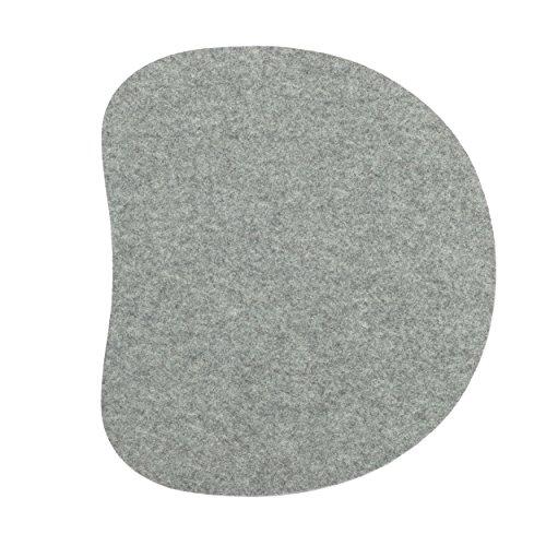 Sitzauflage für Panton Stuhl 1-lagig silbergrau