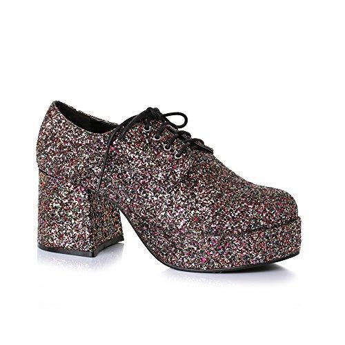 Herren Disco Plateau 7,6 cm Absatz Glitzer Schuhe Größe M 10-11