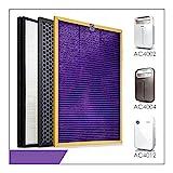 Filtro de repuesto para purificador de aire 3pcs / reemplazo AC4121 AC4123 + + AC4124 Kit Filtros for Philips AC4002 AC4004 AC4012 purificador de aire de piezas Juego de filtros de carbón activado
