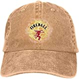 Gsdgjgg Fireball Cinnamon Whisky Street Casquette Baseball-Caps Natural Cotton Adjustable Unisex Hat Gift,One Size
