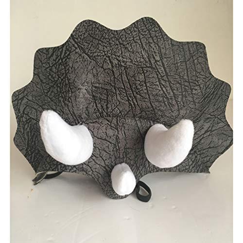 POPETPOP 1 stück Dinosaurier Hut Einstellbare Triceratops Festival Kopfbedeckung Kappe für Haustiere Hunde Kostüm