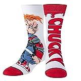 Odd Sox, Unisex, Movies, Chucky Doll, Crew Socks, Horror Novelty Scary 80's